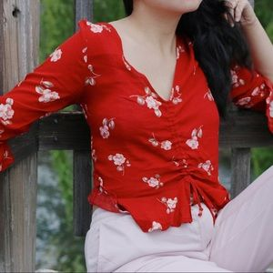 ONLY MEDIUM & LARGE AVAILABLE! Floral Belle Top